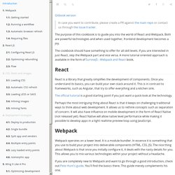 React Webpack cookbook