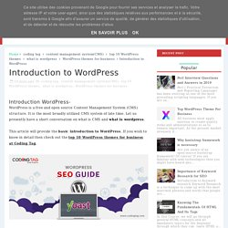 Introduction to WordPress - .Free Online Updated IT Tutorials and Courses - Coding Tag