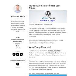 Introduction à WordPress sous Nginx