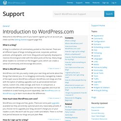 Introduction to WordPress.com