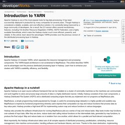 Introduction to YARN