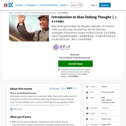 Introduction to Mao Zedong Thought