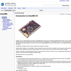 IntroductionPage - ardu-imu - Arduino based IMU & AHRS