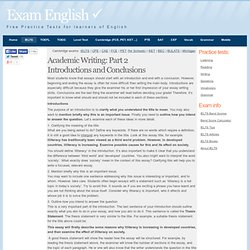 IELTS Academic Writing: Part 2 - Introductions and Conclusions
