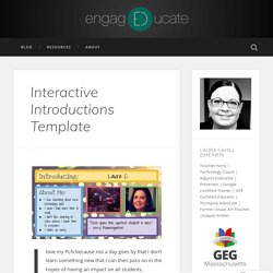Interactive Introductions Template – engagEDucate