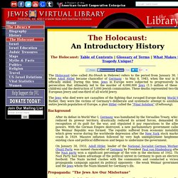 An Introductory History of the Holocaust