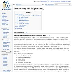 Introductory PLC Programming