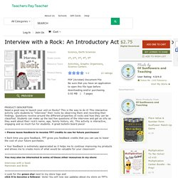 Interview with a Rock: An Introductory... by Of Sunflowers and Teaching