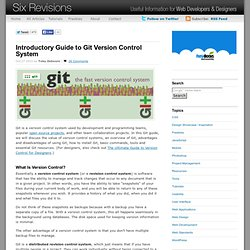 Introductory Guide to Git Version Control System | Six Revisions