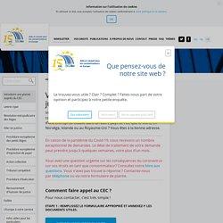 Introduire une plainte auprès du CEC - CEC Belgique