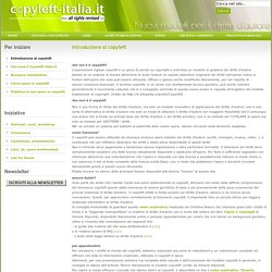 Introduzione al copyleft