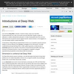 Introduzione al Deep Web