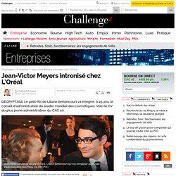 Jean-Victor Meyers intronisé chez L'Oréal