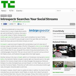 Introspectr Searches Your Social Streams