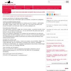 Quelle stratégie des contenus web dans une logique de référencement: toutes les étapes pour le gestionnaire du contenu - ©2010 Action-redaction.com® - Isabelle Canivet