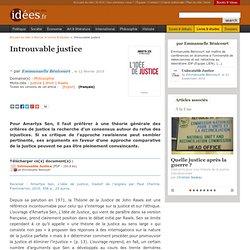Introuvable justice - La vie des idées