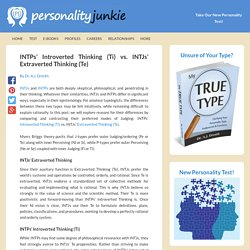 INTPs' Introverted Thinking (Ti) vs. INTJs' Extraverted Thinking (Te)