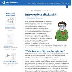 Introvertiert glücklich?