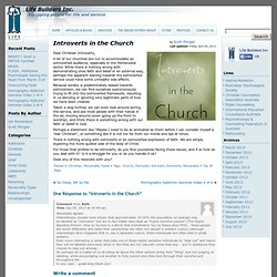 Introverts in the Church » Life Builders Inc.