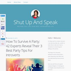 Party Tips For Introverts: 42 Experts Reveal How To Survive A Party