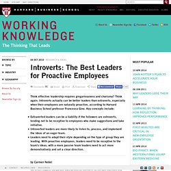 Introverts: The Best Leaders for Proactive Employees