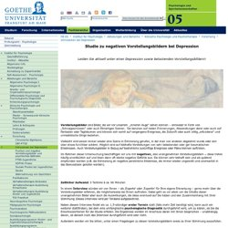 Intrusionen bei Depression - Goethe-Universität