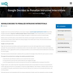 Google Decides to Penalize Intrusive Interstitials