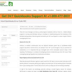 Intuit Quickbooks Error Code 301 - quickbookscustomerservicephonenumber
