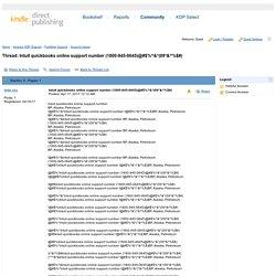 Intuit quickbooks online support number ...