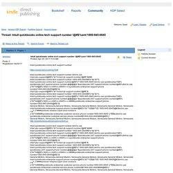 Intuit quickbooks online tech support ...