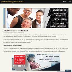 Intuit QuickBooks Troubleshoot
