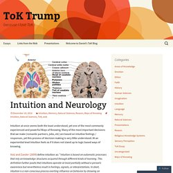 Intuition and Neurology