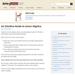An Intuitive Guide to Linear Algebra