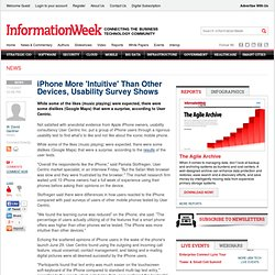 iPhone More 'Intuitive' Than Other Devices, Usability Survey Shows -- iPhone -- InformationWeek