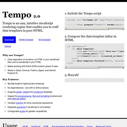 Tempo :: The tiny JSON rendering engine by TwigKit