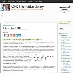 Intuniv for ADHD