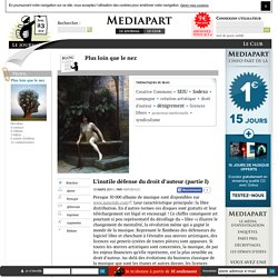 L'inutile défense du droit d'auteur (partie I)