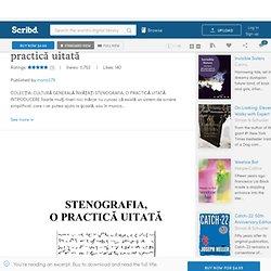 Învăţaţi Stenografia-o practică uitată