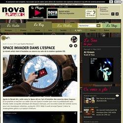 Space Invader dans l'espace