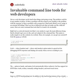 Invaluable command line tools for web developers
