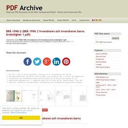BRÅ 1996:2 (BRÅ 1996 2 Invandrares och invandrares barns brottslighet 1.pdf) - PDF Archive