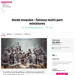Horde Invasion - fantasy multi-part miniatures