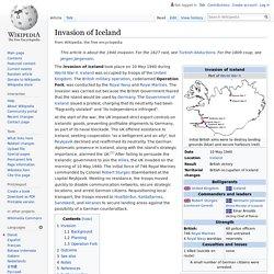 Invasion of Iceland