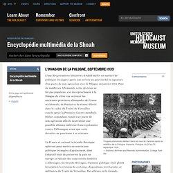 L'invasion de la Pologne, septembre 1939