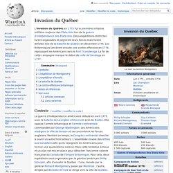 Invasion du Québec
