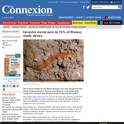 CONNEXION FRANCE 10/02/20 Invasive worm now in 75% of France, study shows