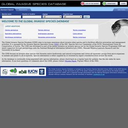 Global Invasive Species Database