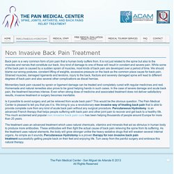 Non Invasive Back Pain Treatment - The Pain Medical Center