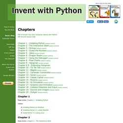 Invent Your Own Computer Games with Python - Chapters