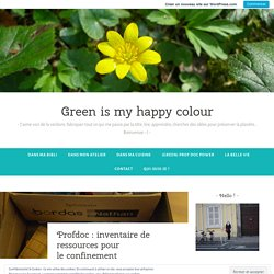 Profdoc : inventaire de ressources pour le confinement – Green is my happy colour